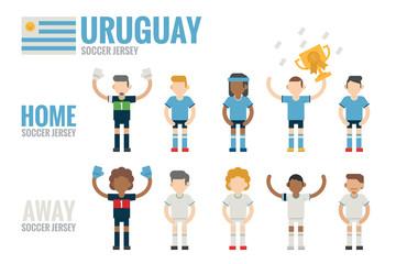 Uruguay soccer team character