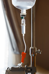 saline solution drip