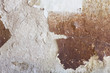 Close up of a damaged stained concrete wall