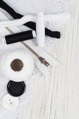 Sewing material-black and white