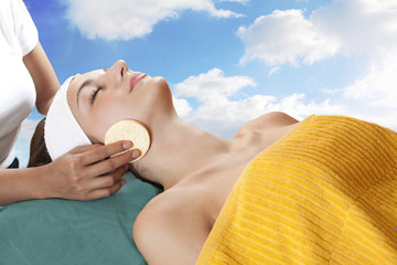 Woman spa therapy and skin care