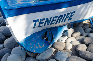 Tenerife boat in Los Cristianos beach - Spain
