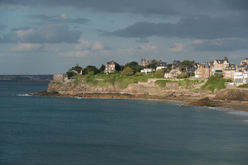 Dinard panorama, famous holiday destination in Brittany