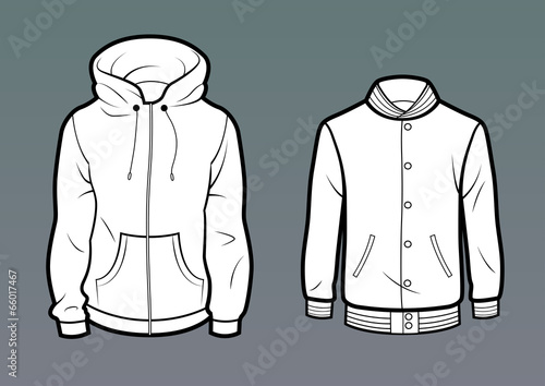 Template Hoodie and baseball jacket | Buy Photos | AP Images ...
