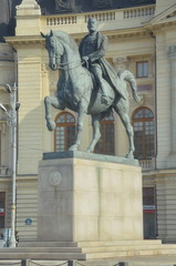 Statue of King Carol the First, Bucharest, Romania