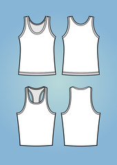 Set of two tanktop templates regular fit and sport