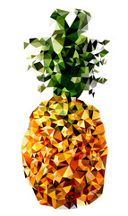 Polygonal Pineapple Fruit Illustration