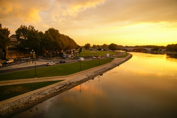Avignon at sunset, France