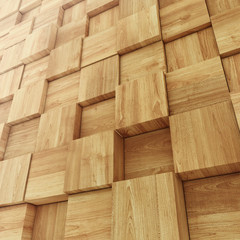 Abstract Wooden Cube background