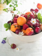 fresh fruit and berry