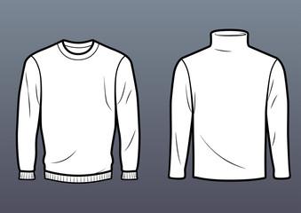 Regular sweater and turtleneck