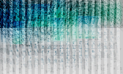 vector abstract background with stripes and handwritten numbers
