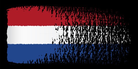 brushstroke flag Netherlands