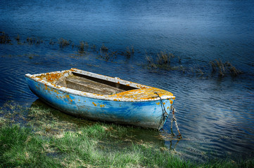 Old painted fishing boat