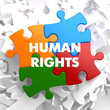 Human Rights on Multicolor Puzzle.