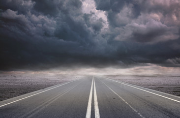 The  Great Road Under Clouds