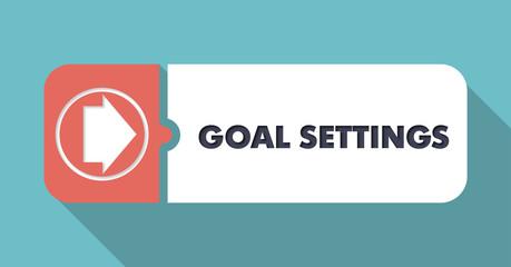 Goal Settings on Blue in Flat Design.