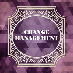 Change Management Concept. Purple Vintage design.