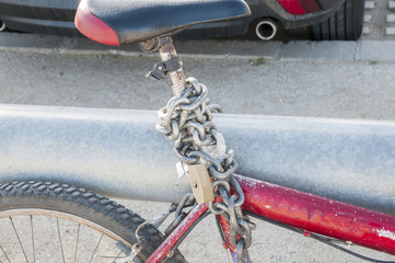 bike padlocked