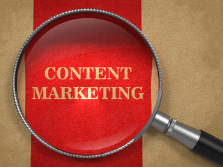 Content Marketing Concept Through Magnifying Glass.