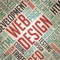 Web Design - Grunge Word Cloud Concept.