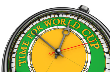 time for world cup conceptual clock