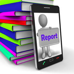 Report Phone Means News Announcement Or Information