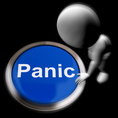 Panic Pressed Shows Alarm Distress And Crisis