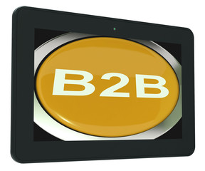 B2b Tablet Means Business Trade Or Deal