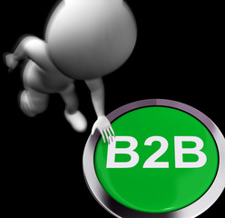 B2B Pressed Shows Business Partnership Or Deal