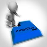 Incentive Keyboard Shows Reward Premium Or Bonus poster