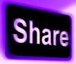 Share Sign Shows Sharing Webpage Or Picture Online