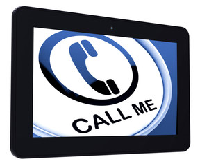 Call Me Tablet Shows Talk or Chat