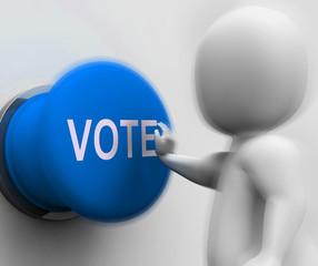 Vote Pressed Means Choosing Electing Or Poll