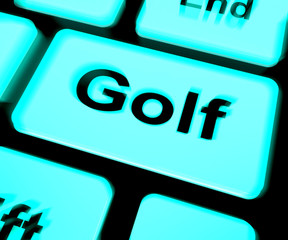 Golf Keyboard Means Golfer Club Or Golfing