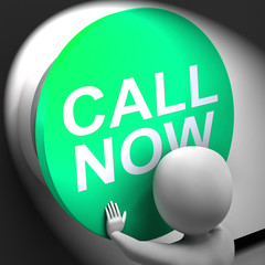 Call Now Pressed Shows Assistance And Support Center