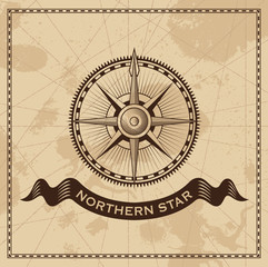 Wind Rose - nautical vector compass