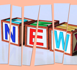 New Letters Show Latest Contemporary Or Newly Added