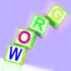 Grow Word Shows Advancing Expanding And Developing
