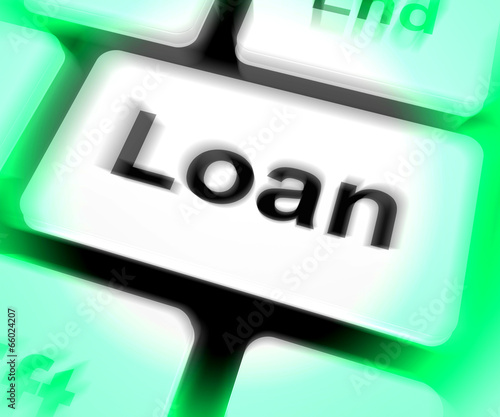 Loan Keyboard Means Lending Or Providing Advance