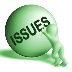 Issues Uphill Sphere Shows Problems Difficulty Or Troubles