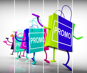 Promo Shopping Bags Show Discount Reduction or Sale