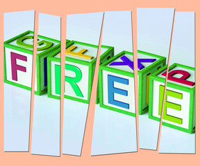 Free Letters Mean Complimentary And No Charge