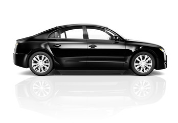 3D Image of Black Car