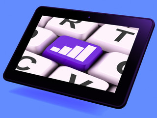 Graph Key Tablet Means Data Analysis Or Statistics