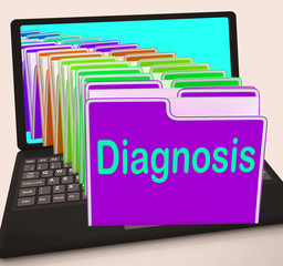 Diagnosis Folder Laptop Shows Medical Conclusions And Illness