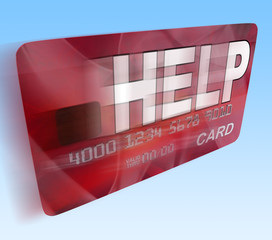 Help Bank Card Flying Means Give Monetary Support And Assistance