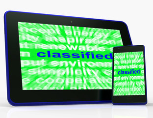 Classified Tablet Shows Top Secret Or Confidential Document