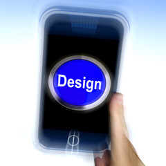 Design On Mobile Phone Shows Creative Artistic Designing