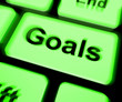 Goals Keyboard Shows Aims Objectives Or Aspirations
